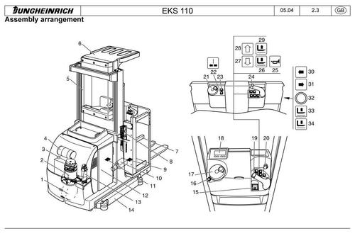 Product picture Jungheinrich Order Picker EKS 110 (07.2004-03.2009) Workshop Service Manual