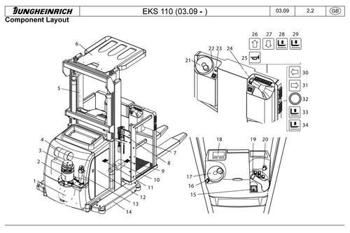 Product picture Jungheinrich Order Picker EKS 110 (03.2009-03.2015) Workshop Service Manual